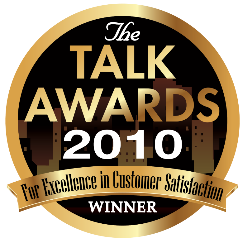 2010 TALK AWARD FOR EXCELLENCE IN CUSTOMER SERVICE
