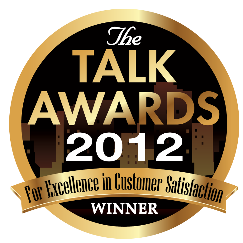 2012 TALK AWARD FOR EXCELLENCE IN CUSTOMER SERVICE