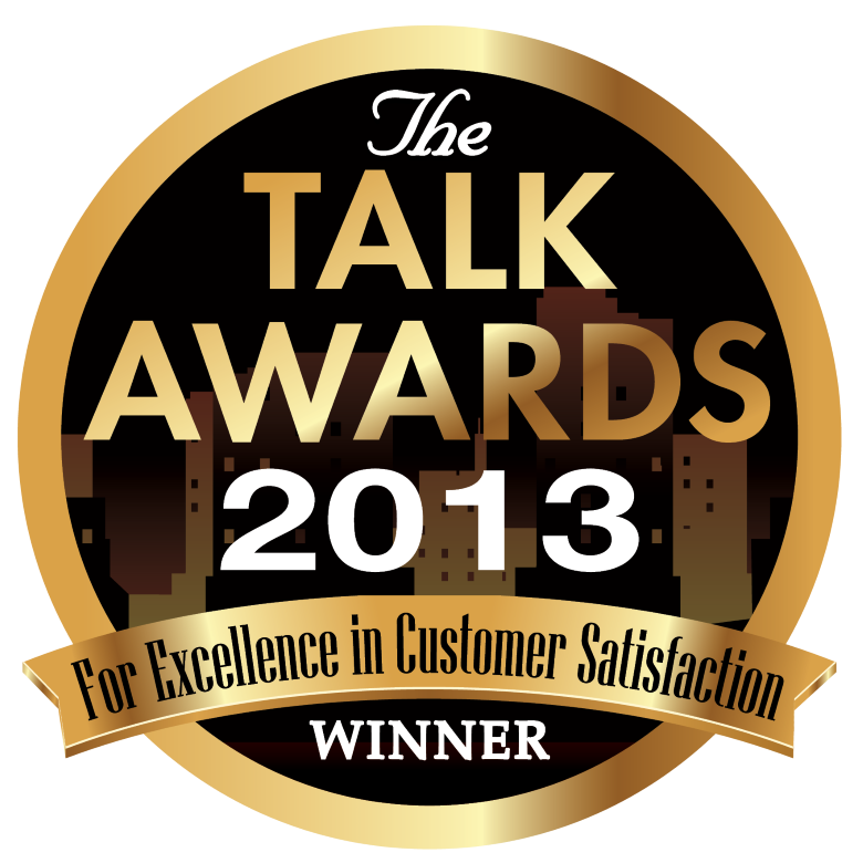 2013 TALK AWARD FOR EXCELLENCE IN CUSTOMER SERVICE