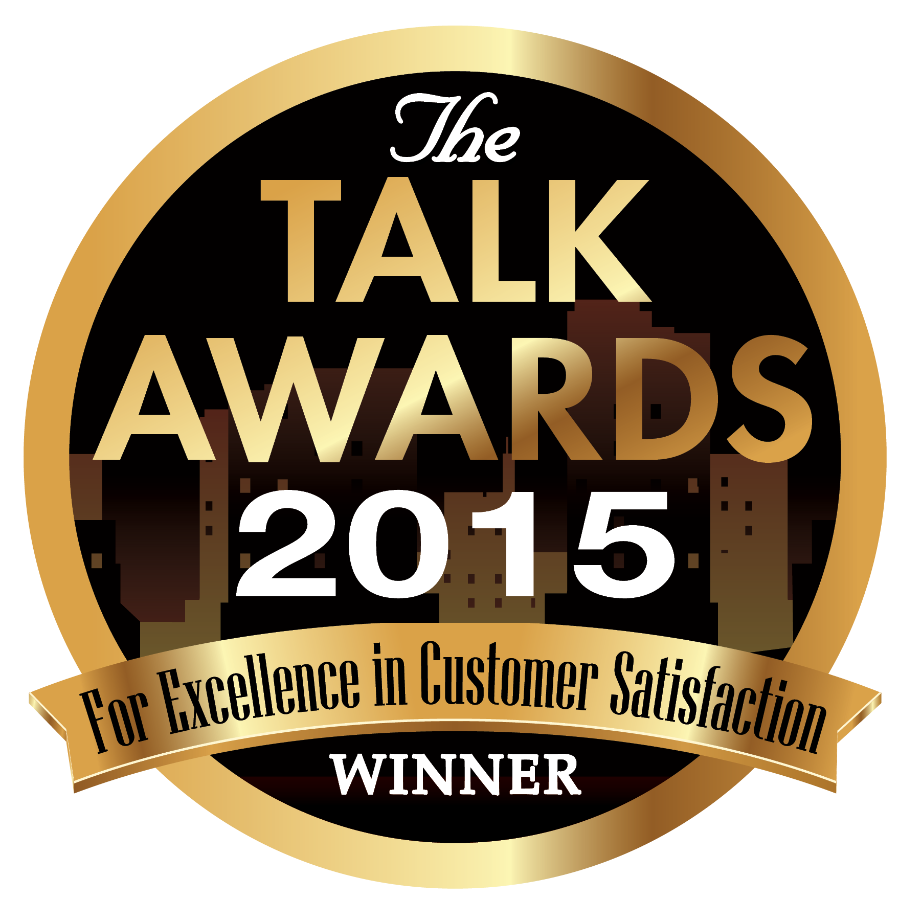 2015 TALK AWARD FOR EXCELLENCE IN CUSTOMER SERVICE