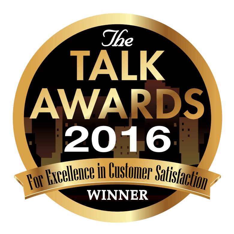 2016 TALK AWARD FOR EXCELLENCE IN CUSTOMER SERVICE